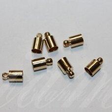 MD3962.5 apie 9 x 5 mm, rusiško aukso spalva, skylių,4.5 mm, užbaigimo detalė, 8 vnt.
