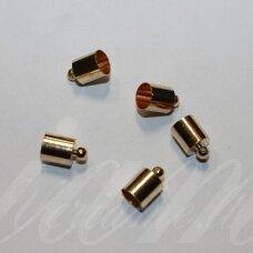MD3968 apie 14 x 10 mm, rusiško aukso spalva, skylių,9.5 mm, užbaigimo detalė, 4 vnt.