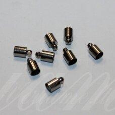 MD3977 apie 14 x 10 mm, juoda spalva, skylių,9.5 mm, užbaigimo detalė, 4 vnt.