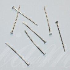 md4150 apie 25 x 0.7 mm, metalo spalva, smeigtukas su plokščia galvute, apie 100 vnt.