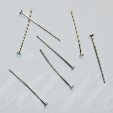MD4152 apie 40 x 0.7 mm, metalo spalva, smeigtukas su plokščia galvute, apie 75 vnt.