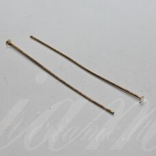MD4361.5 apie 35 x 0.7 mm, rusiško aukso spalva, smeigtukas su plokščia galvute, apie 120 vnt.
