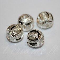 MD5020 apie 10 mm, sidabrinė spalva, intarpas, 4 vnt.