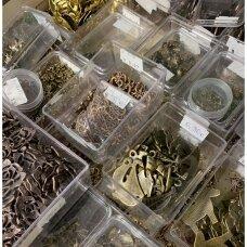 supermetpak/mix/10-20-60 apie 20 - 60 mm, mix spalva, metalinis pakabukas, 10 vnt