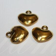 md6610 apie 16 x 15 x 5.5 mm, sendinta auksinė spalva, pakabukas, 3 vnt.