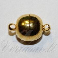 md7015 apie 11.5 x 6 mm, auksinė spalva, magnetinis užsegimas, 1 vnt.