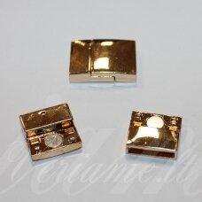 md7041.2 apie 24 x 17 x 6 mm, skylė 3 x 15 mm, auksinė spalva, 1 vnt.