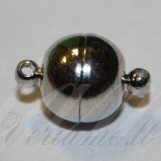 md7115 apie 11.5 x 6 mm, metalo spalva, magnetinis užsegimas, 1 vnt.