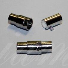 md7118.5 apie 17.5 x 7 mm, metalo spalva, skylė 5 mm, magnetinis užsegimas, 1 vnt.
