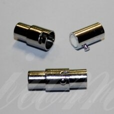 md7118.7 apie 17 x 9 mm, metalo spalva, skylė 6 mm, magnetinis užsegimas, 1 vnt.
