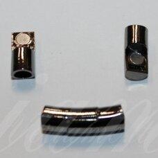 md7152 apie 28 x 8.5 mm, metalo spalva, skylė 6 mm, magnetinis užsegimas, 1 vnt.
