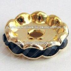 mdam0004-12 mm, auksinė spalva, akutės juoda spalva, 10 vnt.