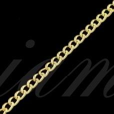 mdg0027 apie 2.2 x 3.2 x 0.6 mm, šviesi, auksinė spalva, grandinėlė, 1m.