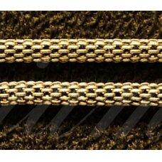 mdg0044 apie 2.5 mm, šviesi, auksinė spalva, grandinėlė, 1 m.