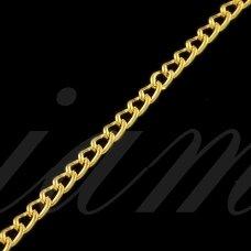 mdg0053 apie 3.8 x 2.2 x 0.6 mm, šviesi, auksinė spalva, grandinėlė, 1 m.