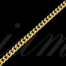 mdg0054 apie 2.4 x 1.8 x 0.6 mm, šviesi, auksinė spalva, grandinėlė, 1 m.