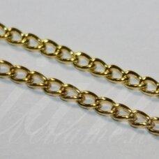 mdg0065.5 apie 4.5 x 3 x 0.6 mm, šviesi, auksinė spalva, grandinėlė, 1 m.