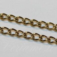 MDG0076 apie 2.9 x 4.3 x 0.7 mm, itališko aukso spalva, grandinėlė, 1 m.