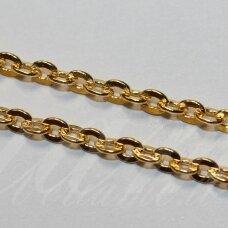 MDG0084 apie 3.2 x 4 x 0.7 mm, aukso spalva, grandinėlė, 1 m.