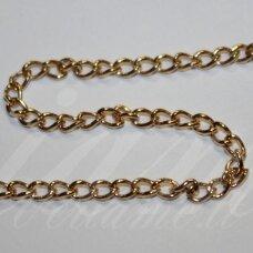 mdg0138 apie 3.5 x 5.5 x 0.9 mm, rusiško aukso spalva, grandinėlė, 1 m.