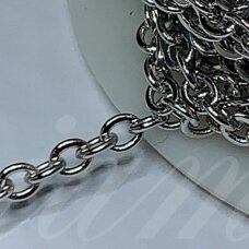 mdg0337-M about 3.6 x 3.2 mm, metal color, chain, 1 m.