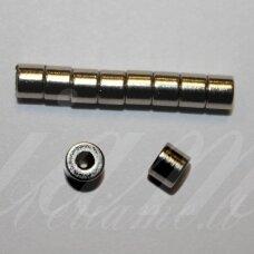 MDV0020 apie 3 x 4 mm, metalo spalva, magnetas, 1 vnt.