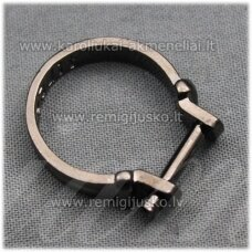 mdv0125 about 25 x 4 mm, black color, adjustable ring base, troll / pandora beads, 1 pc.