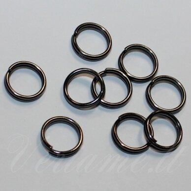 md0014 apie 10 x 2 mm, juoda spalva, dvigubas žiedelis, apie 28 vnt.