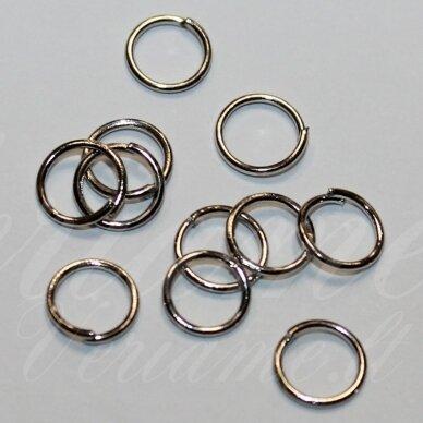 md0067 apie 7 x 1.2 mm, metalo spalva, viengubas žiedelis, apie 100 vnt.