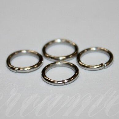 md0068 apie 8 x 1 mm, metalo spalva, viengubas žiedelis, apie 90 vnt.