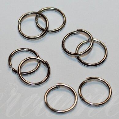 md0070 apie 10 x 1 mm, metalo spalva, viengubas žiedelis, apie 60 vnt.