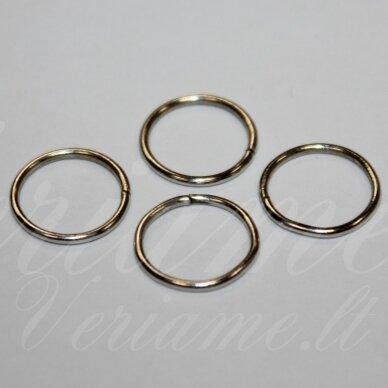 md0071.5 apie 14 x 1 mm, metalo spalva, viengubas žiedelis, apie 40 vnt.