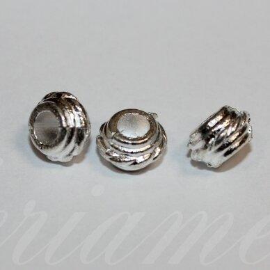 md1248.2 apie 5 x 8.5 mm, sidabrinė spalva, intarpas, 10 vnt.