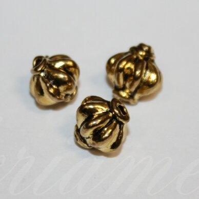 md1410.6 apie 7.5 x 8.5 mm, sendinta auksinė spalva, intarpas, 10 vnt. / x 5 pakeliai.
