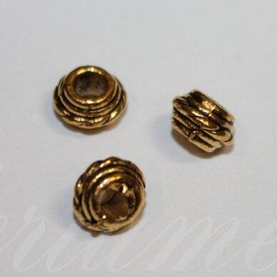 md1410.8 apie 5 x 8.5 mm, sendinta auksinė spalva, intarpas, 10 vnt. / x 5 pakeliai.