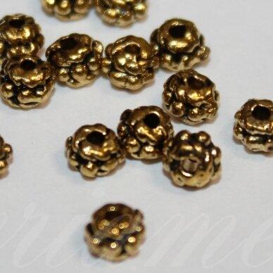 md1413.8 apie 3.5 x 4.5 mm, sendinta auksinė spalva, intarpas, apie 40 vnt.