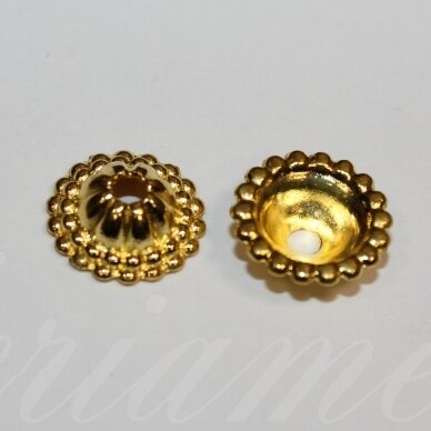 md2798.2 about 14 x 5 mm, light, gold color, hat, 6 pcs.