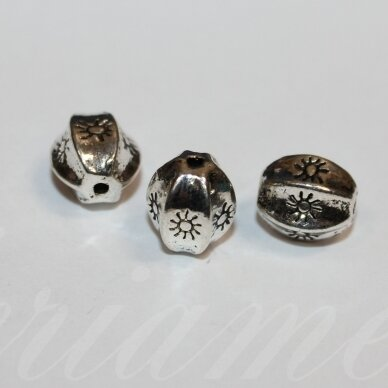 md3041 about 11 x 10 mm, metal color, insert, 4 pcs.