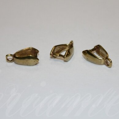 md3107 apie 12 x 7 x 4 mm, auksinė spalva, pakabuko detalė, 6 vnt.