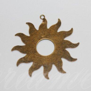md3461 apie 39 x 36.5 mm, žalvario spalva, pakabukas, žvaigždės forma, 6 vnt.