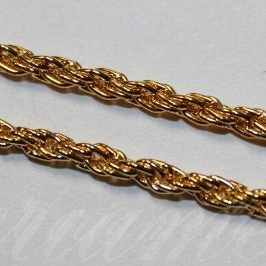mdg0085 apie 3 x 0.6 mm, auksinė spalva, grandinėlė, 1 m.