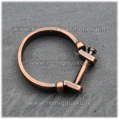 mdv0126 apie 25 x 4 mm, vario spalva, žiedo pagrindas, trolio / pandoros karoliukui, 1 vnt.
