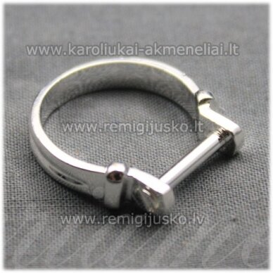 mdv0127 about 25 x 4 mm, silver color, adjustable ring base, troll / pandora beads, 1 pc.