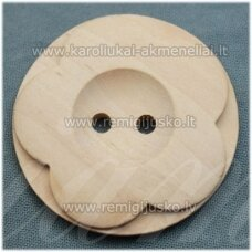 med0010 about 38 x 6 mm, wood sample, button, 1 pc.