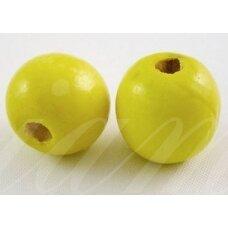 MEDK0003 apie 13 mm, apvali forma, geltona spalva, apie 15 vnt.