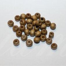 MEDK0182 apie 6 x 7 mm, rondelės forma, gelsva spalva, medinis karoliukas, apie 20 g.