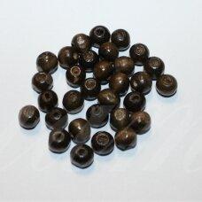 MEDK0044 apie 10 mm, apvali forma, tamsi, ruda spalva, apie 20 g.