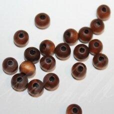 MEDK0179 apie 8 mm, apvali forma, marga spalva, apie 50 vnt.