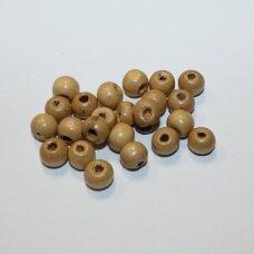 MEDK0200 apie 07 x 09 mm, rondelės forma, gelsva spalva, medinis karoliukas, 20g.