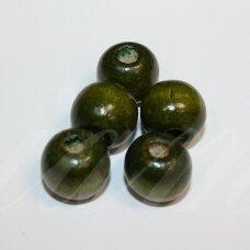 medk303 apie 12-13 mm, apvali forma, samaninė spalva, medinis karoliukas, apie 26 vnt.